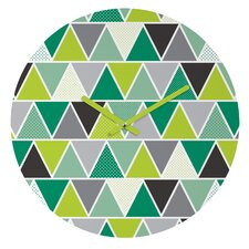 Heather Dutton Emerald Triangulum Wall Clock