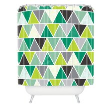 Heather Dutton Emerald Triangulum Woven Polyester Shower Curtain