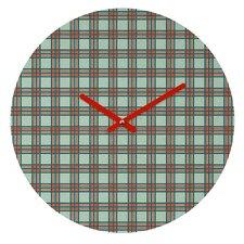 Holli Zollinger Box Plaid Wall Clock