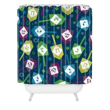 Loni Harris Dreidel Dreidel Woven Polyester Shower Curtain