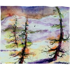 Ginette Fine Art Winter Trees Plush Fleece Throw Blanket