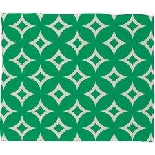 Holli Zollinger Emerald Diamonds Plush Fleece Throw Blanket