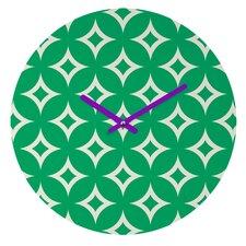 Holli Zollinger Emerald Diamonds Wall Clock