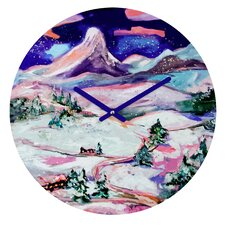 Ginette Fine Art Winter Wonderland Wall Clock
