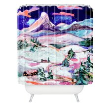 Ginette Fine Art Winter Wonderland Woven Polyester Shower Curtain