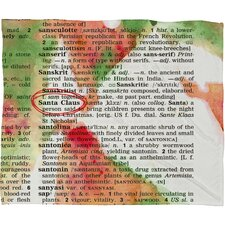 Susanne Kasielke Santa Claus Dictionary Art Plush Fleece Throw Blanket