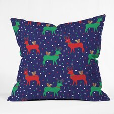 Zoe Wodarz Geo Pop Deer Blue Throw Pillow