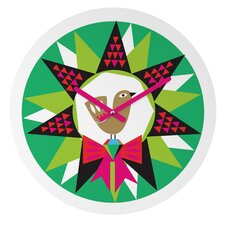 Zoe Wodarz Geo Pop Wreath Wall Clock