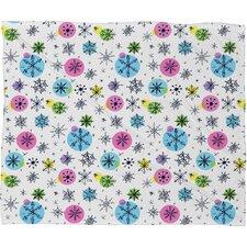 Sam Osborne Snowflake Doodles Plush Fleece Throw Blanket