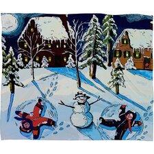 Renie Britenbucher Snow Angels Plush Fleece Throw Blanket