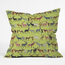 Sharon Turner Pistachio Spice Deer Throw Pillow