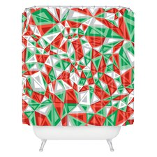 Gneural Triad Illusion Yule Woven Polyester Shower Curtain