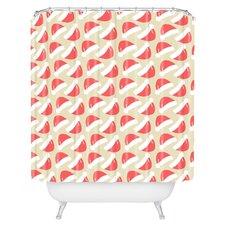 Allyson Johnson Santa Hats Woven Polyester Shower Curtain