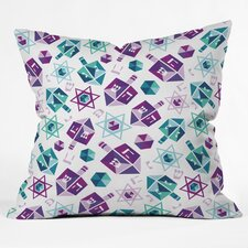 Zoe Wodarz Dreidel Facets Throw Pillow