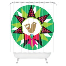 Zoe Wodarz Geo Pop Wreath Woven Polyester Shower Curtain