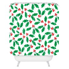 Zoe Wodarz Holly Day Woven Polyester Shower Curtain