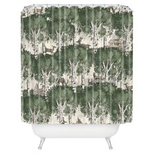 Belle13 My Deer Secret Forest Woven Polyester Shower Curtain