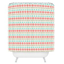 Allyson Johnson Holiday Style Woven Polyester Shower Curtain