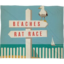 Anderson Design Group Sign Post Polyester Fleece Throw Blanket