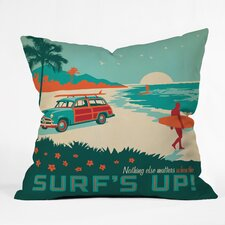 Anderson Design Group Surfs Up Outdoor Throw Pillow
