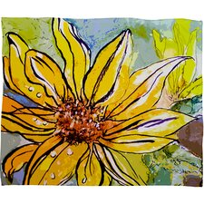 Ginette Fine Art Sunflower Ribbon Polyester Fleece Throw Blanket