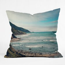 Catherine Mcdonald California Pacific Coast Highway Outdoor Throw Pillow