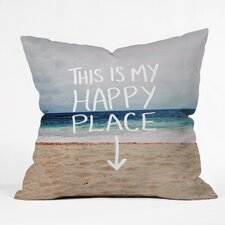 Leah Flores Happy Place X Beach Outdoor Throw Pillow
