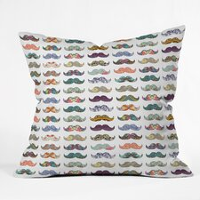 Bianca Mustache Mania Outdoor Throw Pillow