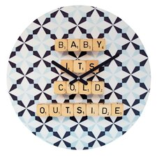 Happee Monkee Baby Its Cold Outside Wall Clock