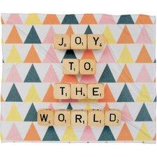 Happee Monkee Joy To The World Plush Fleece Throw Blanket