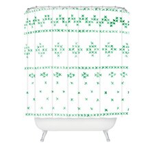 Social Proper Holiday Sweater Woven Polyester Shower Curtain