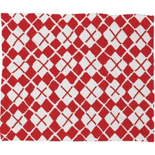 Social Proper Holiday Argyle Plush Fleece Throw Blanket