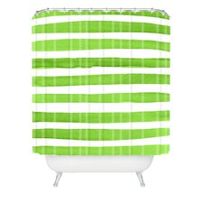 Social Proper Spruce Stripes Woven Polyester Shower Curtain
