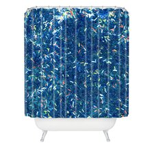 Social Proper Tinsel Ii Woven Polyester Shower Curtain