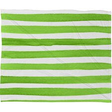 Social Proper Spruce Stripes Plush Fleece Throw Blanket