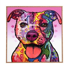 Cherish The Pitbull by Dean Russo Framed Wall Art