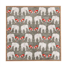 Elephant And Umbrella by Holli Zollinger Framed Wall Art