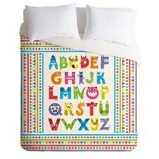Andi Bird Lightweight Alphabet Monsters Duvet Cover