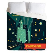 Anderson Design Group Light Weight Chicago Mag Mile Duvet Cover