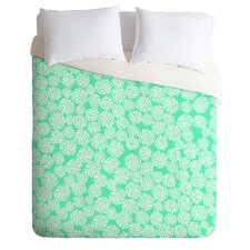 Joy Laforme Dahlias Light Weight Seafoam Duvet Cover