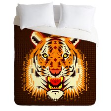 Chobopop Geometric Light Weight Tiger Duvet Cover