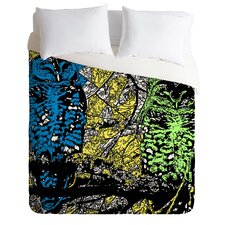 Romi Vega Lightweight Bright Owl Duvet Cover