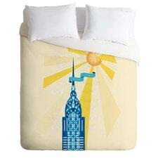 Jennifer Hill Lightweight New York City Chrysler Building Duvet Cover