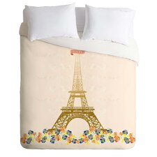 Jennifer Hill Lightweight Paris Eiffel Tower Duvet Cover