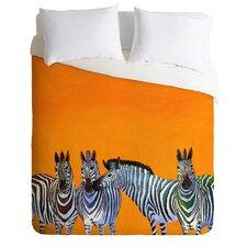 Clara Nilles Lightweight Candy Stripe Zebras Duvet Cover