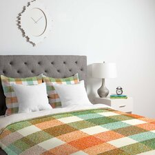 Zoe Wodarz Pastel Plaid Duvet Cover