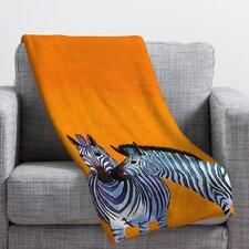 Clara Nilles Candy Stripe Zebras Polyester Fleece Throw Blanket