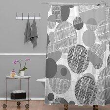 Rachael Taylor Polyester Textured Geo Shower Curtain