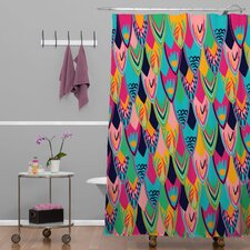 Vy La Love Birds 1 Woven Polyesterr Shower Curtain