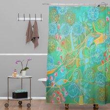 Stephanie Corfee Secret Garden Woven Polyesterr Shower Curtain